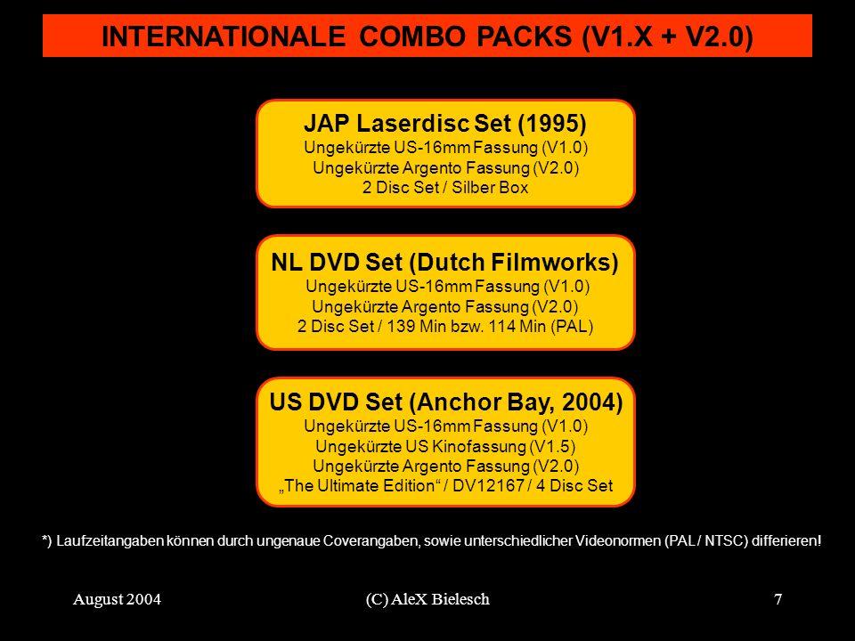 August 2004(C) AleX Bielesch8 COMPOSITE VERSIONS / INOFFIZIELLE FASSUNGEN Romero US-16mm Fassung (V1.0) USA 1978 / 139 Min.