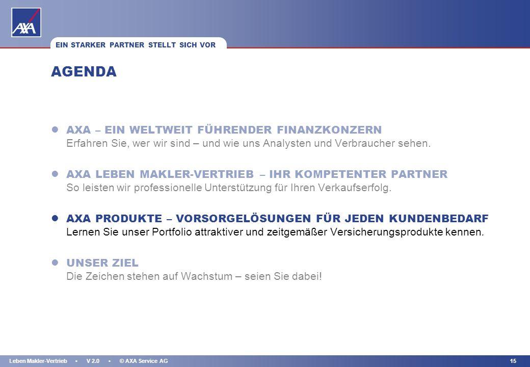KAPITEL 14Leben Makler-Vertrieb V 2.0 © AXA Service AG ANGEBOTSSOFTWARE: DIE ANGEBOTSSOFTWARE – EINFACH, UMFASSEND, DETAILLIERT l Umfangreiches Softwa