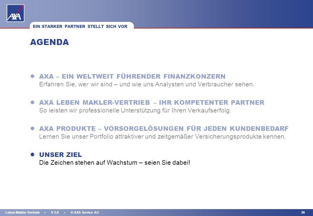 KAPITEL 25Leben Makler-Vertrieb V 2.0 © AXA Service AG DAS ZIEL: FÜR JEDEN BEDARF DIE PASSENDE LÖSUNG! AXA VORSORGEPRODUKTE IM VERGLEICH MIT AXA indiv