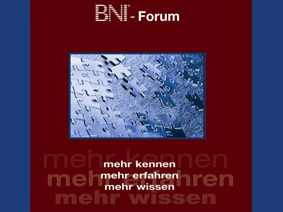BNI Forum 2010... unterstützt von: