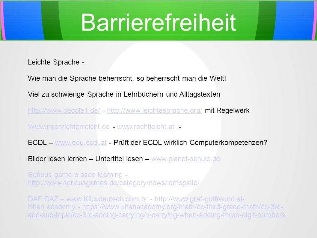 Barrierefreiheit Leichte Sprache - Wie man die Sprache beherrscht, so beherrscht man die Welt! Viel zu schwierige Sprache in Lehrbüchern und Alltagste