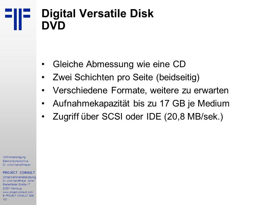 101 VdW-Arbeitstagung Elektronische Archive Dr.