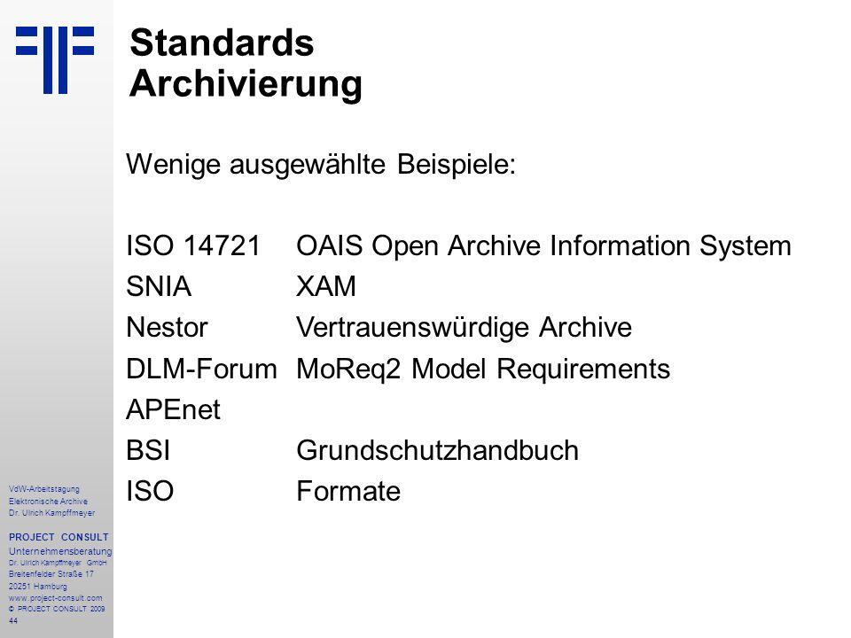 44 VdW-Arbeitstagung Elektronische Archive Dr.