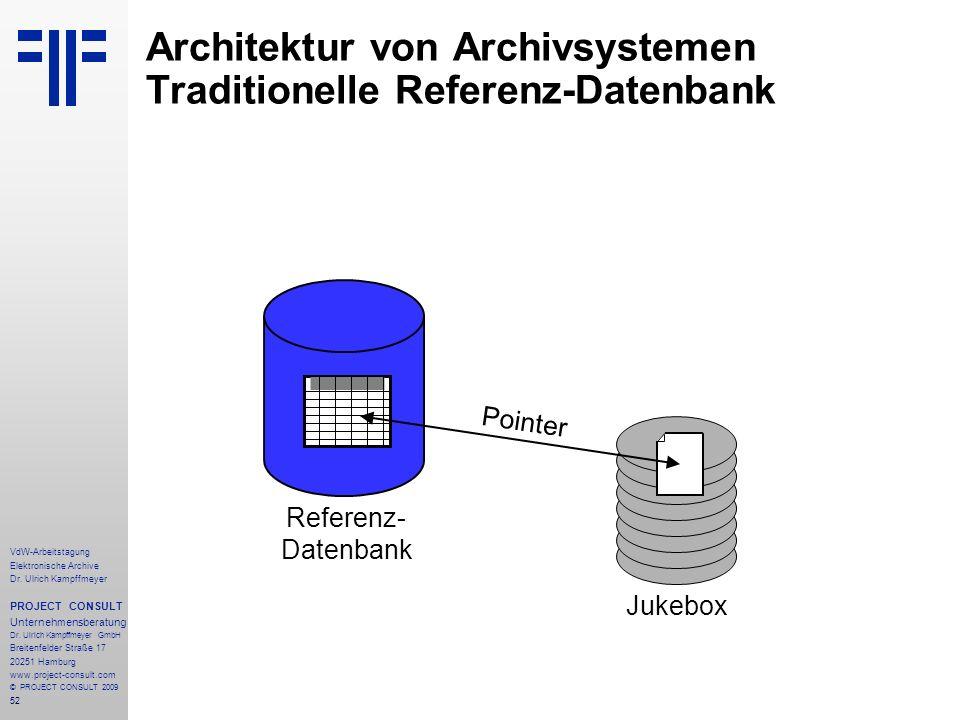 52 VdW-Arbeitstagung Elektronische Archive Dr.
