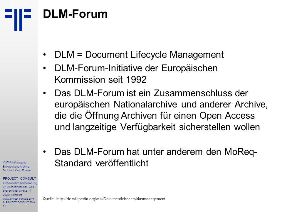 71 VdW-Arbeitstagung Elektronische Archive Dr.