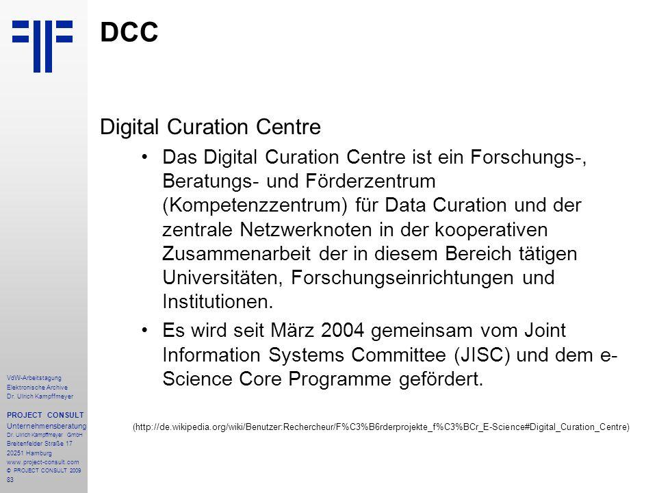 83 VdW-Arbeitstagung Elektronische Archive Dr.
