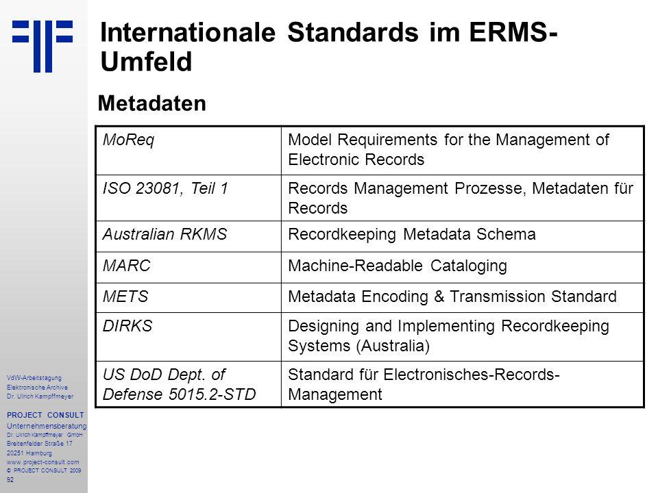 92 VdW-Arbeitstagung Elektronische Archive Dr.