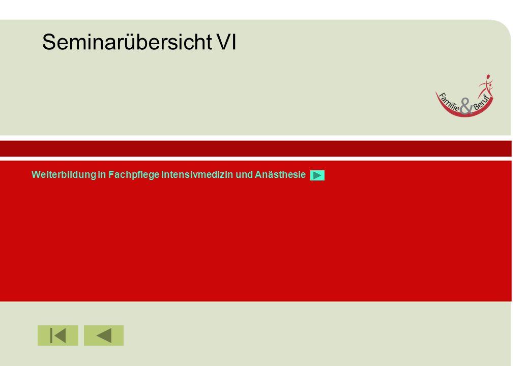 IBF Seminare 2008 Weiterbildung in Fachpflege Intensivmedizin und Anästhesie Seminarübersicht VI