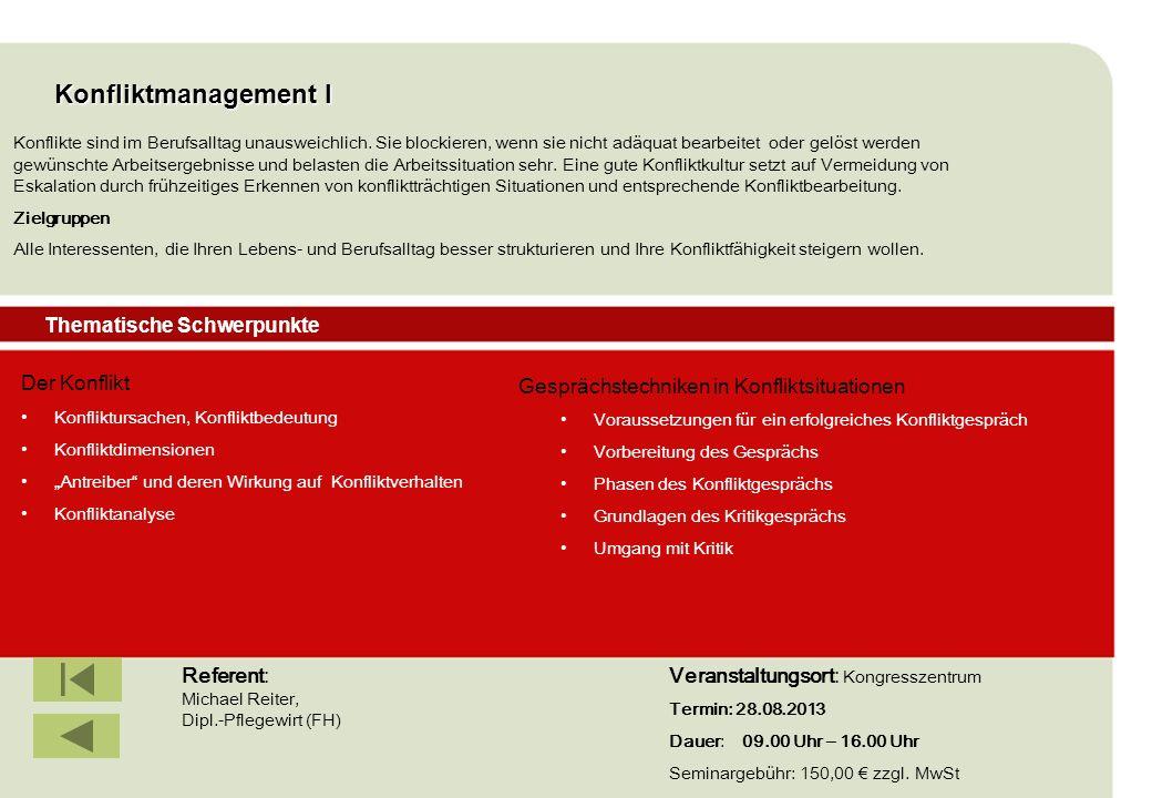 IBF Seminare 2008 Konfliktmanagement I Der Konflikt Konfliktursachen, Konfliktbedeutung Konfliktdimensionen Antreiber und deren Wirkung auf Konfliktve