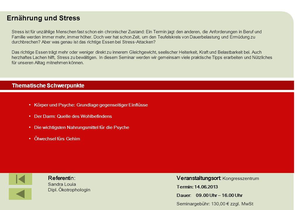 IBF Seminare 2008 Körper und Psyche: Grundlage gegenseitiger Einflüsse Der Darm: Quelle des Wohlbefindens Die wichtigsten Nahrungsmittel für die Psych