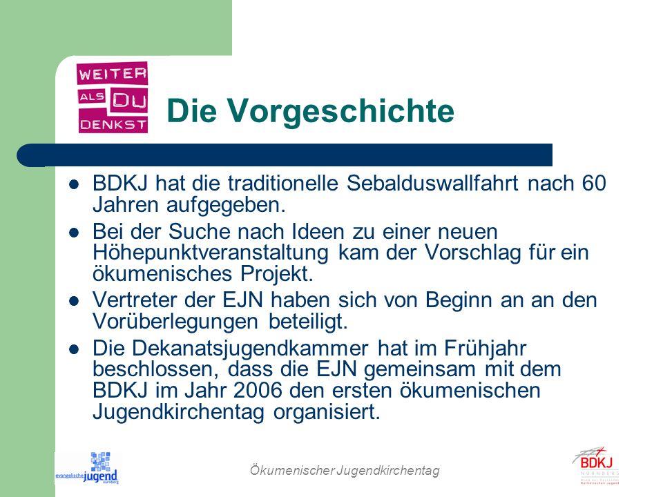 Ökumenischer Jugendkirchentag Zielgruppen Nürnberger Jugendliche ab 13 Jahren Kirchlich interessierte und kirchenferne Jugendliche 800 bis 1000 Teilnehmerinnen und Teilnehmer