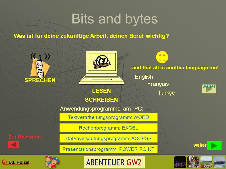 Bits and bytes SERVERCLIENT Wie kannst du als BÜRGER das Internet nützen.