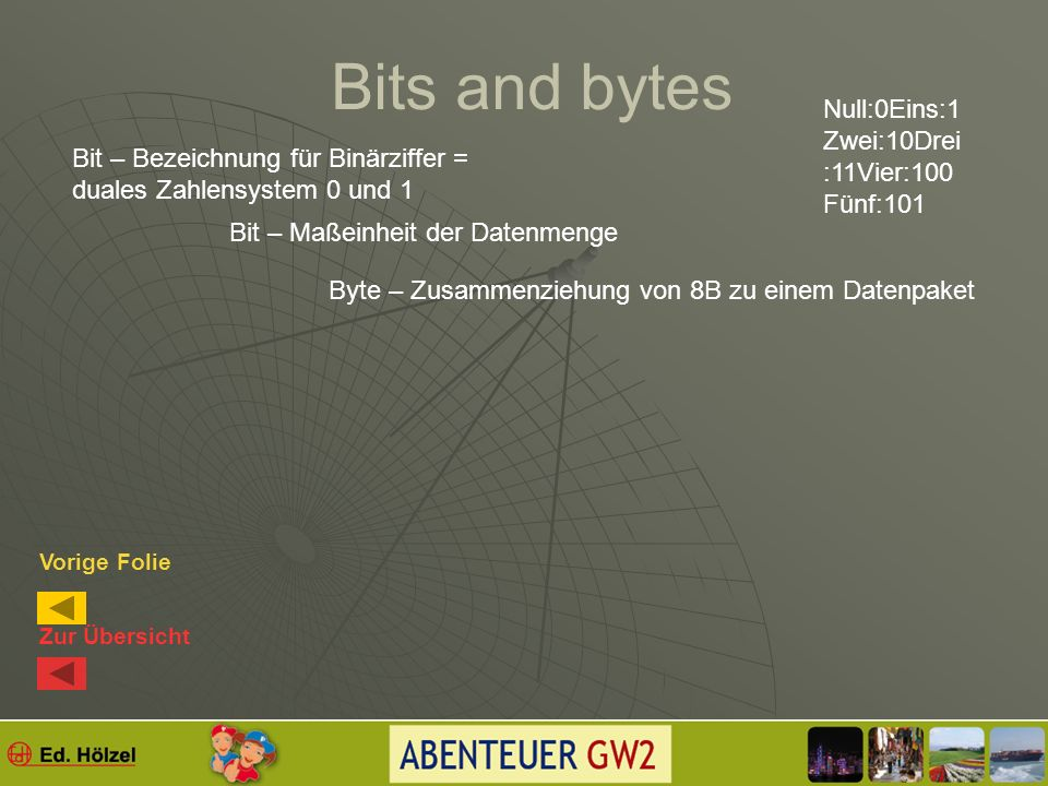 Bits and bytes (siehe Buch S.