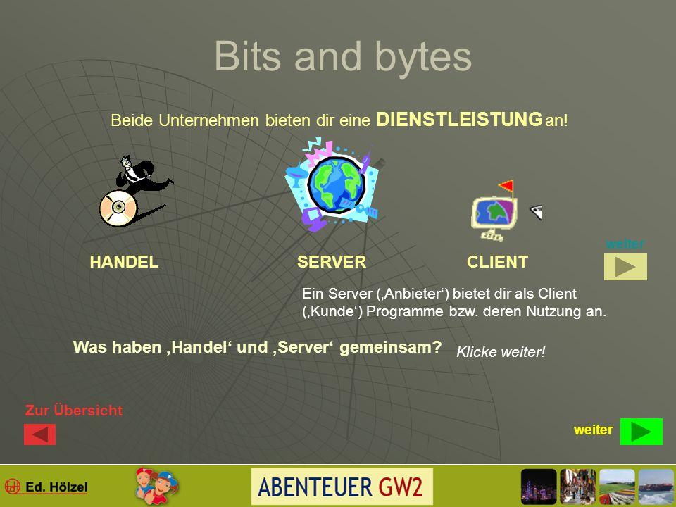 Bits and bytes Viele bieten dir etwas an. Es erreichen dich Mails….