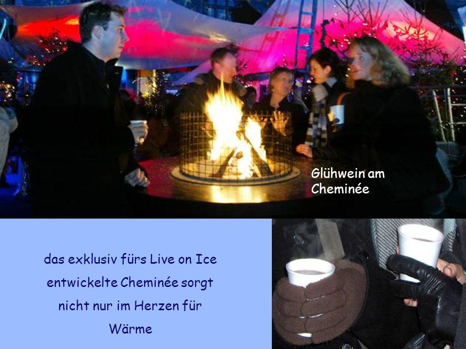 das exklusiv fürs Live on Ice entwickelte Cheminée sorgt nicht nur im Herzen für Wärme Glühwein am Cheminée