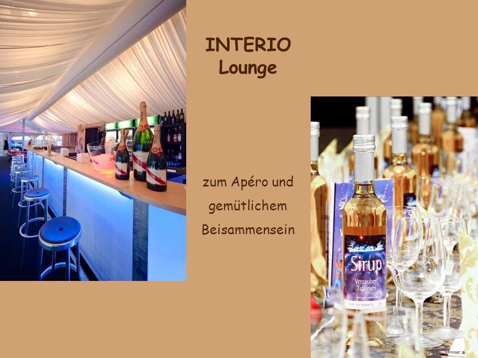 INTERIO Lounge zum Apéro und gemütlichem Beisammensein