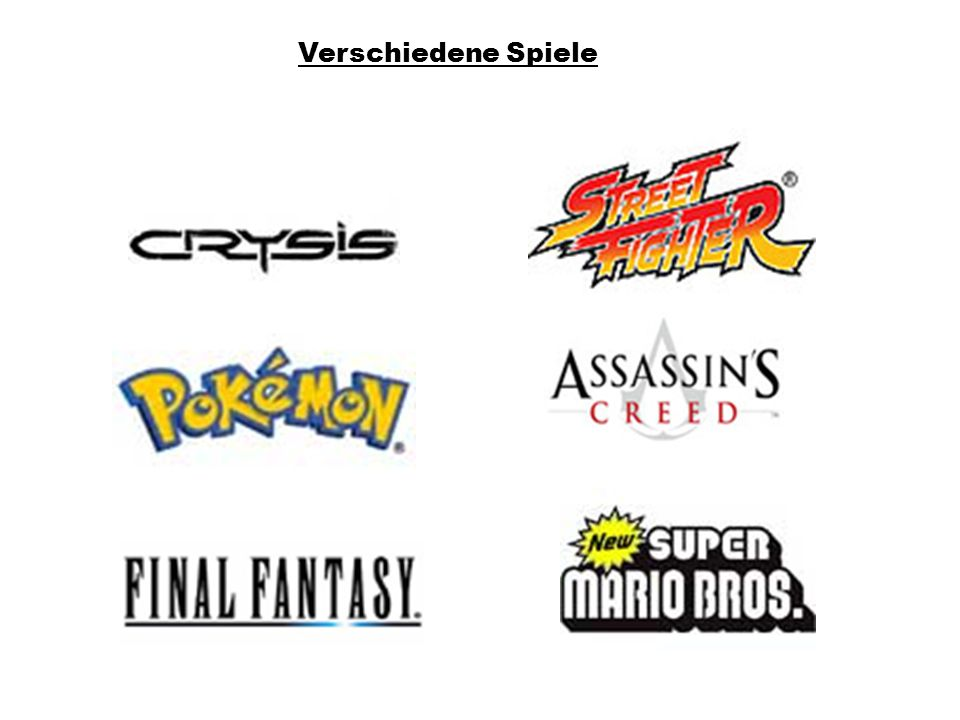 Verschiedene Spiele