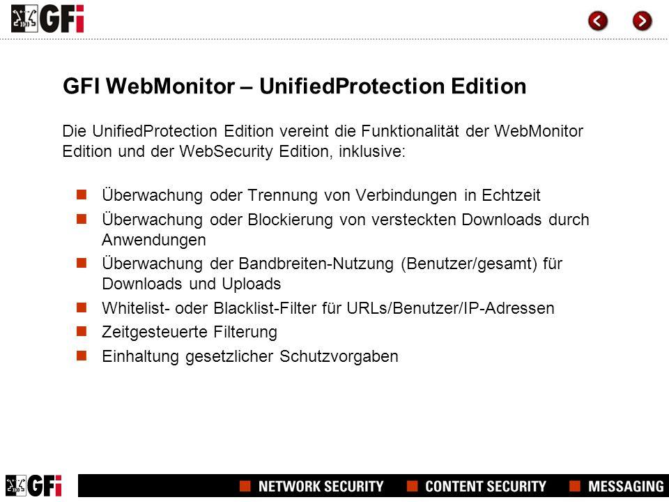Verbindungsüberwachung mit Statistiken Produkt-Screenshot