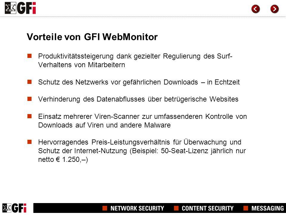 Kundenempfehlungen Ich habe GFI WebMonitor vor Kurzem für mich entdeckt und bin restlos begeistert.