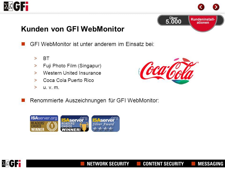 Unabhängige Produkttests Lösung von überragendem WertLösung von überragendem Wert – GFI WebMonitor erhält 4,5 von 5 Sternen: für Zuverlässigkeit, Benutzer- freundlichkeit, gute Dokumentation und hilfreichen Support.