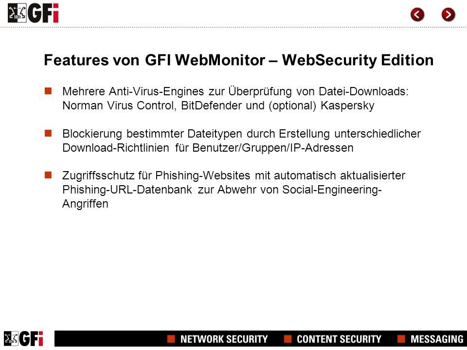 Features von GFI WebMonitor – WebSecurity Edition Warum mehrere Anti-Virus-Engines.