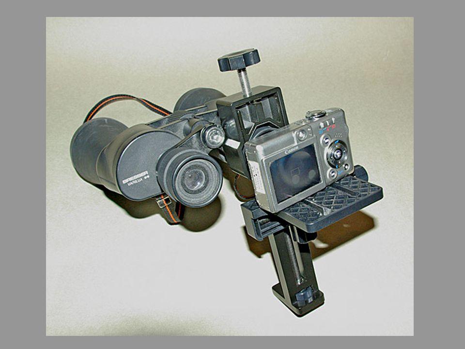 Fernglas / Spektiv / Mikroskop Im Prinzip kann jedes optische Instrument verwendet werden, durch das man mit dem Auge sehen kann: Fernglas, Fernrohr, Spiegelteleskop etc aber auch ein Mikroskop.