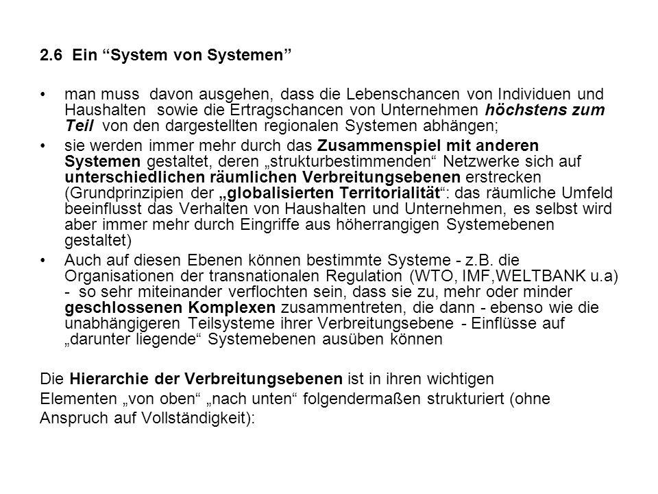 2.6 Ein System von Systemen man muss davon ausgehen, dass die Lebenschancen von Individuen und Haushalten sowie die Ertragschancen von Unternehmen höc