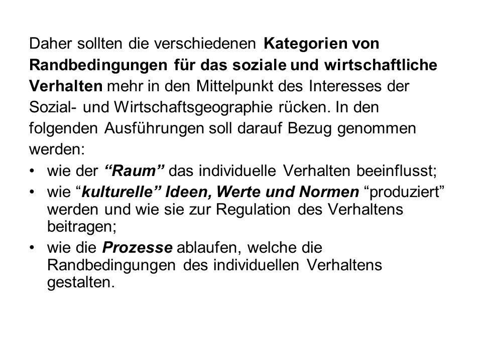 2.5 Regionsbildung durch Partizipations- und Nutzungschancen 2.5.1 Individuen und Haushalte Raum-Zeit Geographie (T.