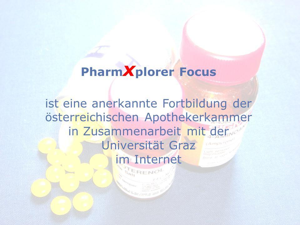 Pharm x plorer Focus ist eine anerkannte Fortbildung der österreichischen Apothekerkammer in Zusammenarbeit mit der Universität Graz im Internet