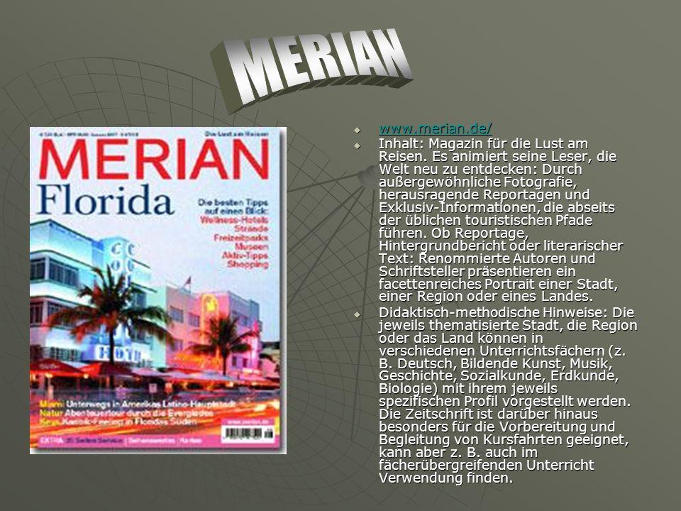 www.merian.de/ www.merian.de/ www.merian.de/ Inhalt: Magazin für die Lust am Reisen.