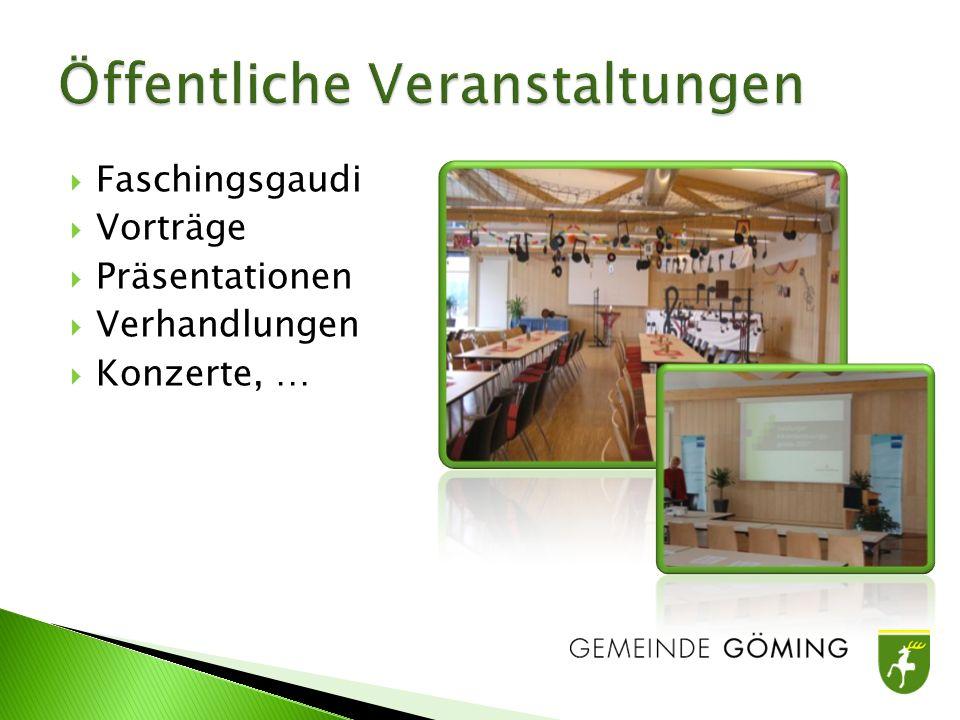 Faschingsgaudi Vorträge Präsentationen Verhandlungen Konzerte, …