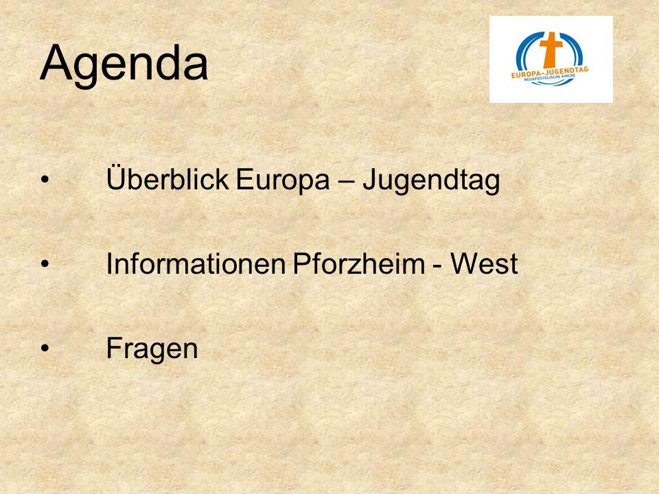 Agenda Überblick Europa – Jugendtag Informationen Pforzheim - West Fragen
