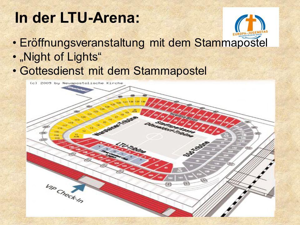 Eröffnungsveranstaltung mit dem Stammapostel Night of Lights Gottesdienst mit dem Stammapostel In der LTU-Arena: