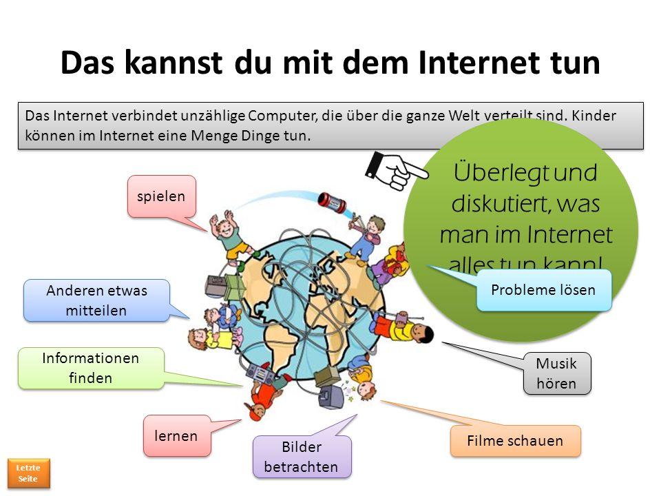 Das Internet verbindet unzählige Computer, die über die ganze Welt verteilt sind.
