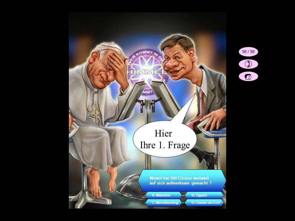 Ich möchte mal wissen weshalb ich Papst geworden bin.