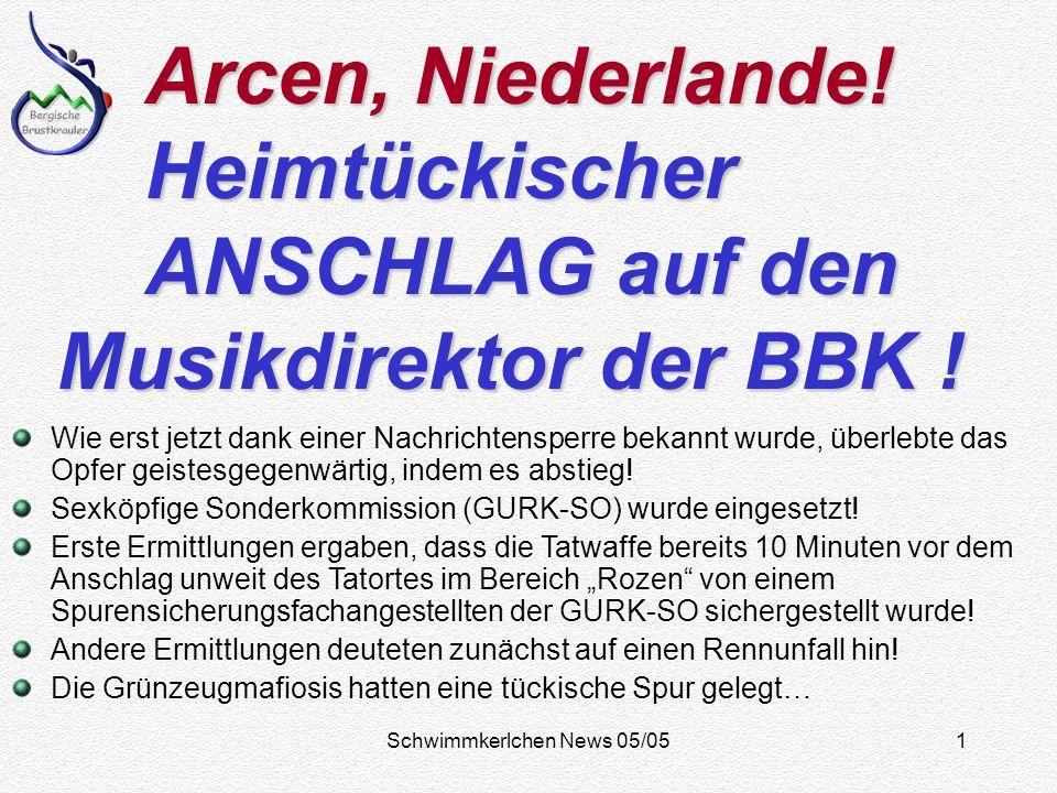 Schwimmkerlchen News 05/051 Arcen, Niederlande.