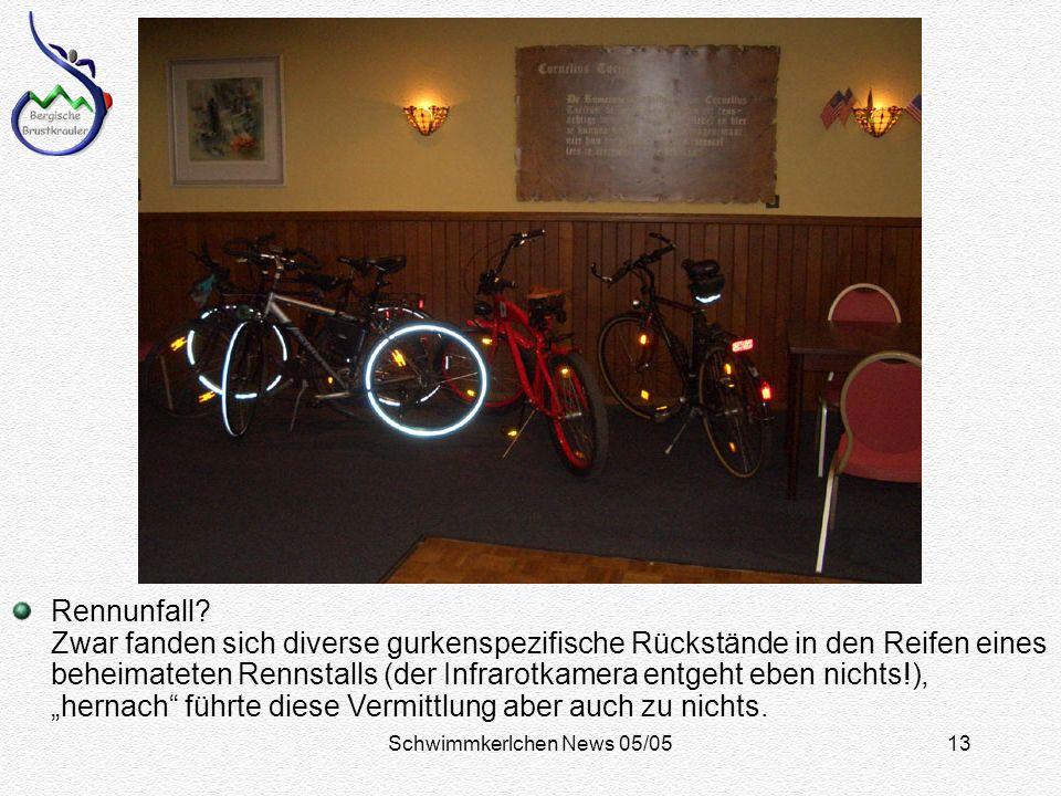 Schwimmkerlchen News 05/0513 Rennunfall.