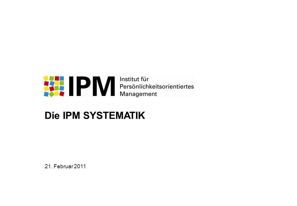 Die IPM SYSTEMATIK 21. Februar 2011