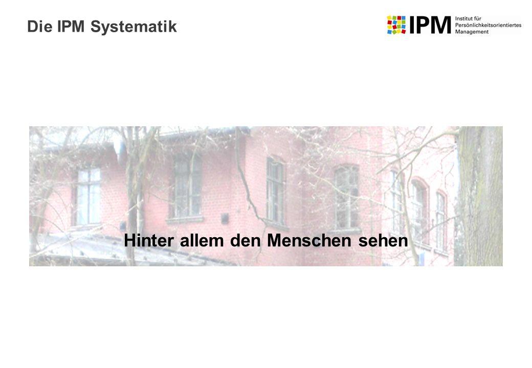 Hinter allem den Menschen sehen Die IPM Systematik