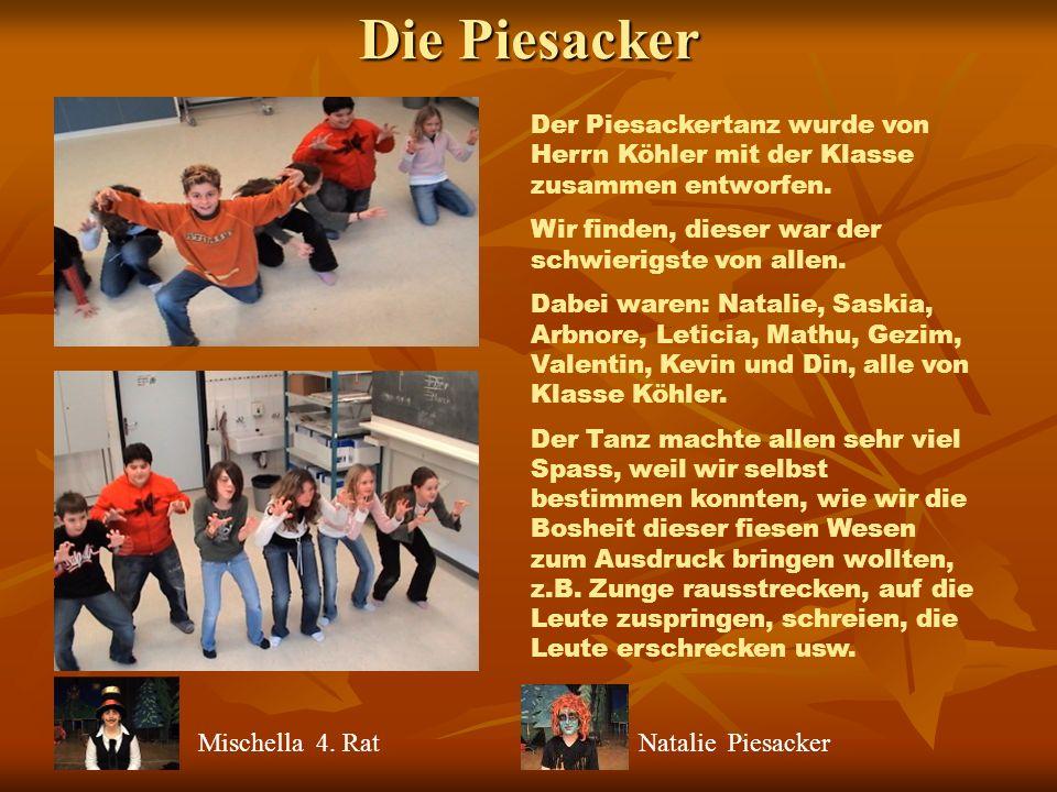 Die Feen und das Waldvolk Der Feentanz wurde von einem Teil der Klasse Deutschle getanzt.