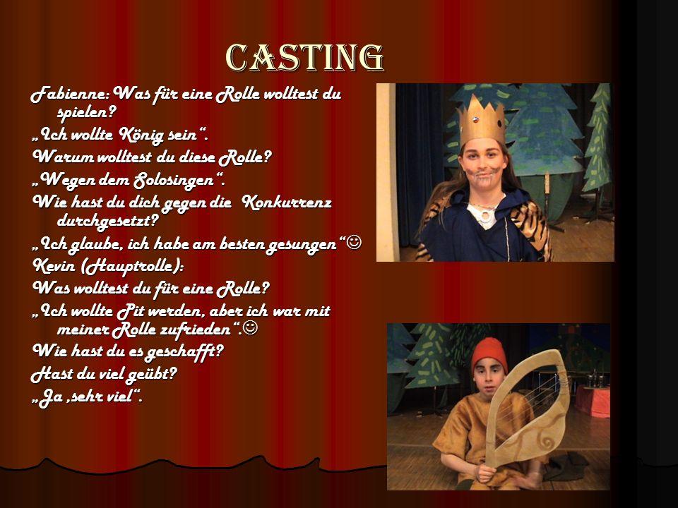 Casting Rollenverteilung und Gesang Gemacht von Leticia und Arbnore Klasse 5 Köhler