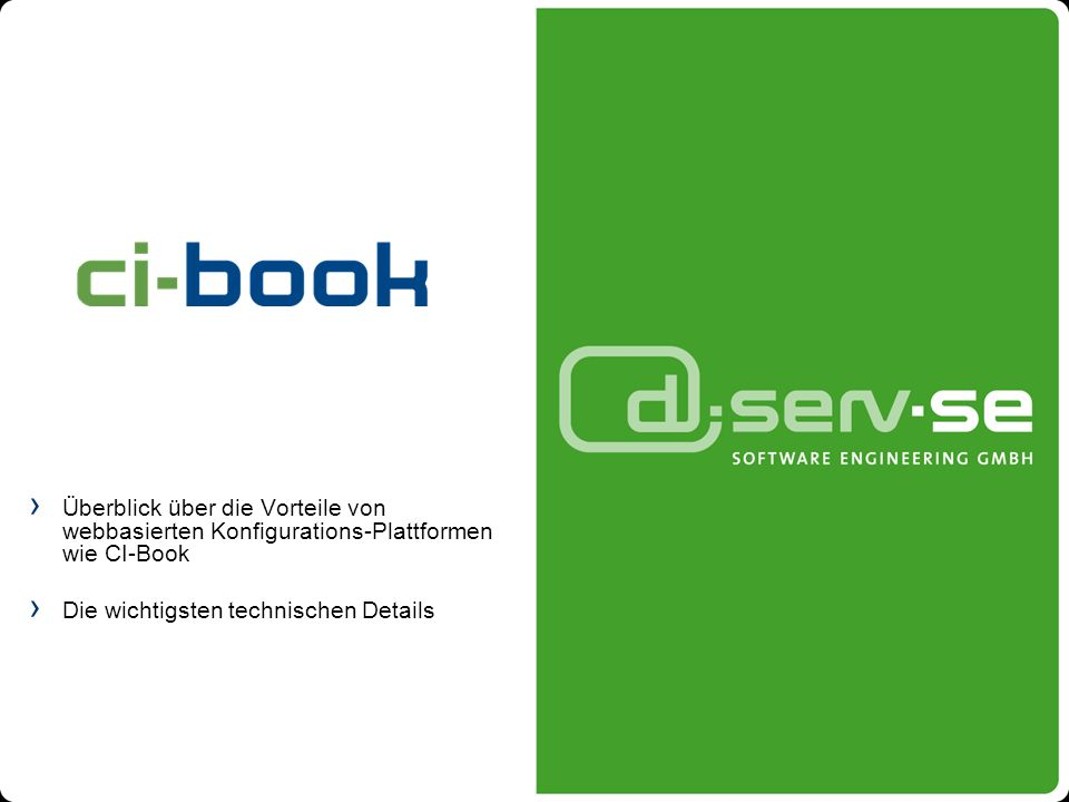 Überblick über die Vorteile von webbasierten Konfigurations-Plattformen wie CI-Book Die wichtigsten technischen Details