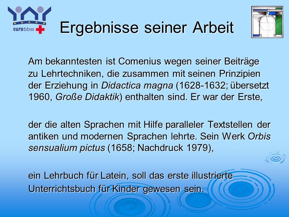 Logo 1 COMENIUS Europäische Zusammenarbeit auf dem Gebiet Europäische Zusammenarbeit auf dem Gebiet der Schulbildung und das Europäische Berufsbildungswerk (EuroBBW Bitburg)