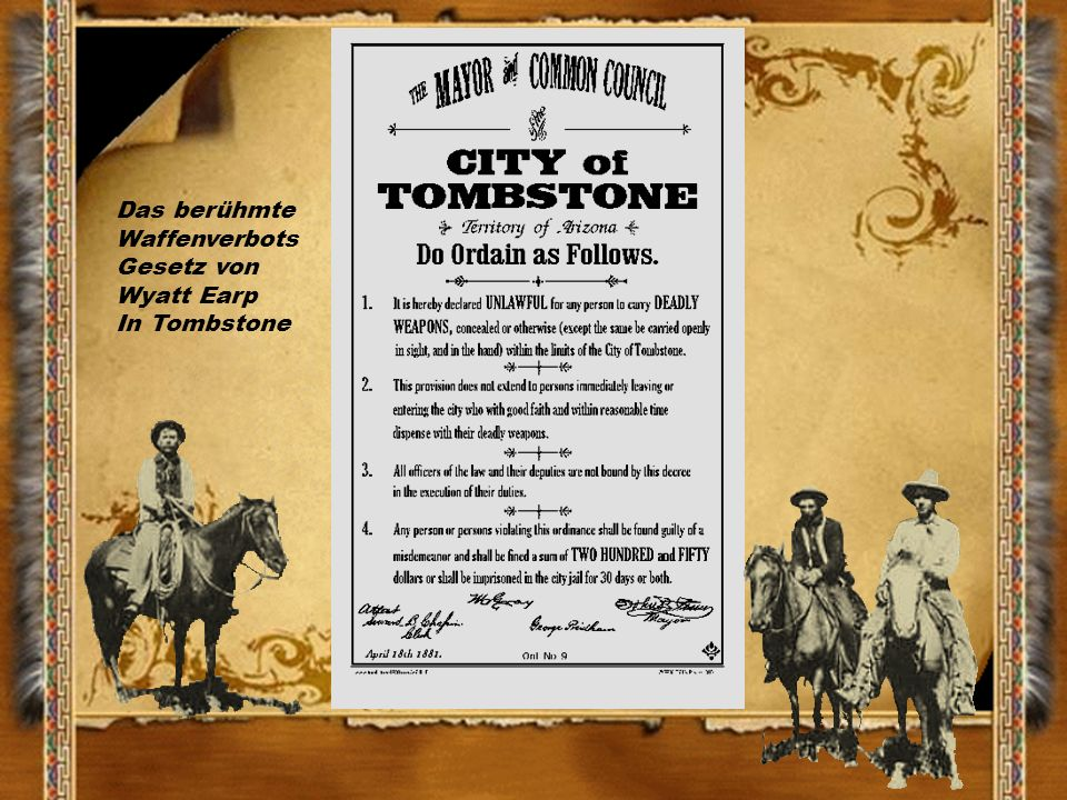 Haftbeschluss gegen Billy the Kid Sheriff Pat Garrett, er erschoss Billy the Kid