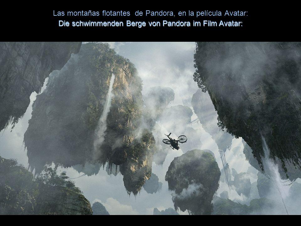 En estos paisajes se inspiró James Cameron para concebir las islas flotantes de la película Avatar:Diese Landschaften inspirierten James Cameron den F