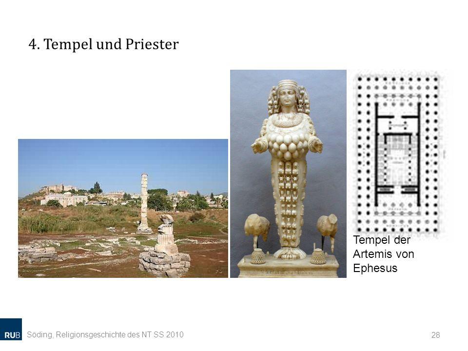 4. Tempel und Priester Söding, Religionsgeschichte des NT SS 2010 28 Tempel der Artemis von Ephesus