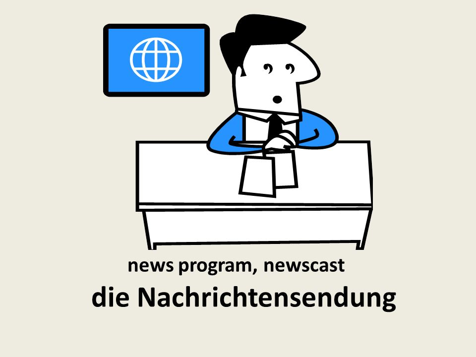 news program, newscast die Nachrichtensendung