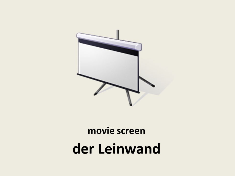 movie screen der Leinwand