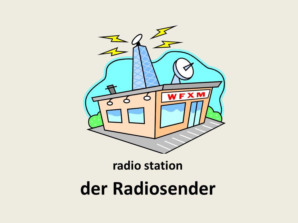 radio, broadcasting der Rundfunk
