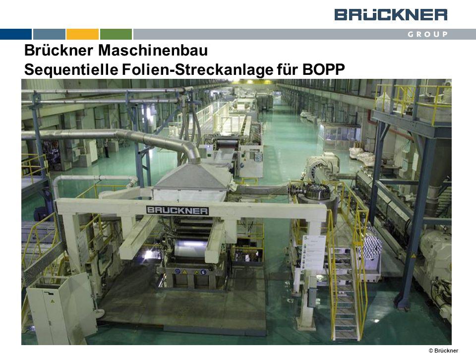 © Brückner Brückner Maschinenbau Sequentielle Folien-Streckanlage für BOPP